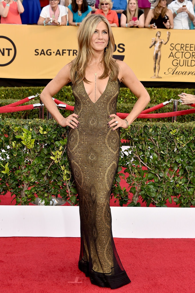 jennifer aniston sag awards galliano