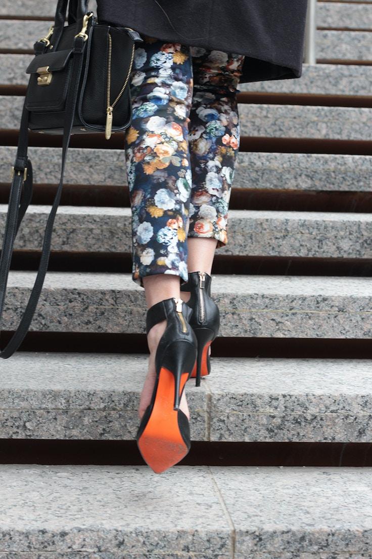 joe fresh orange sole shoes