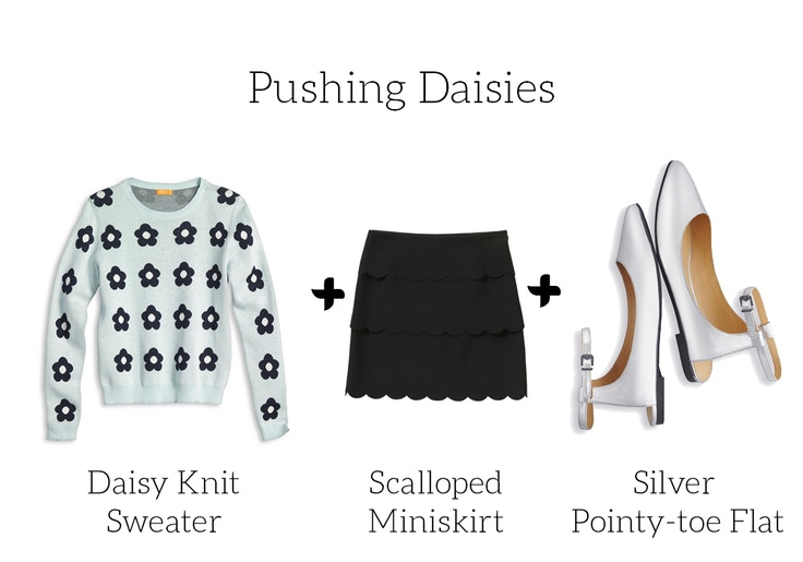 joe fresh spring 2014 daisy sweater skirt