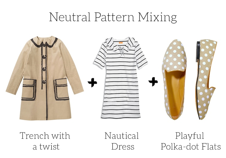 joe fresh spring 2014 neutral pattern mixing