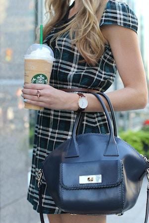 kate spade navy purse psl frappuccino