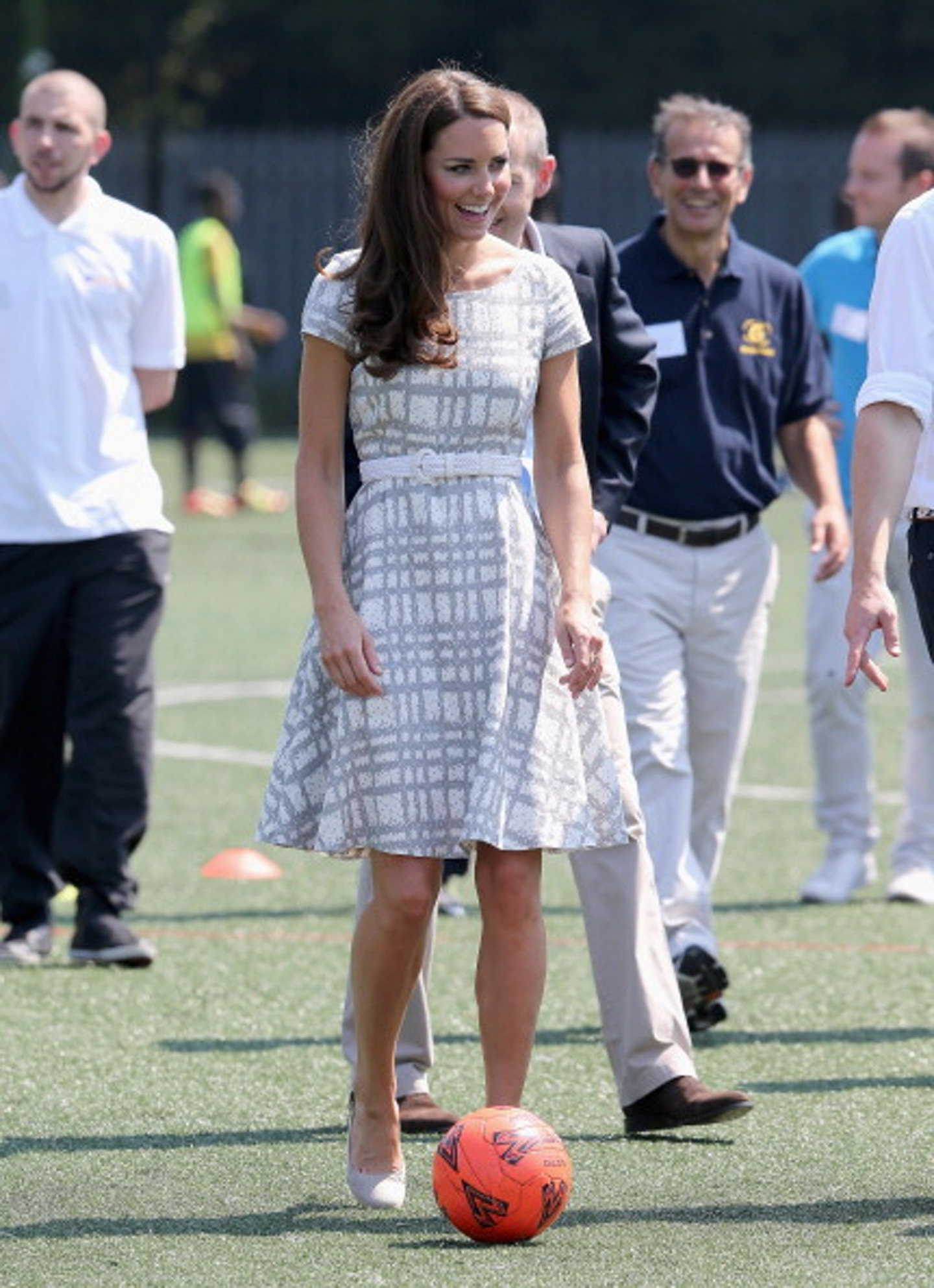 Kate Middleton goes thrifty and chic for a College athletic visit