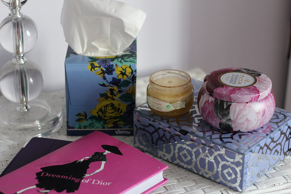 Nightstand cold necessities ft. Kleenex