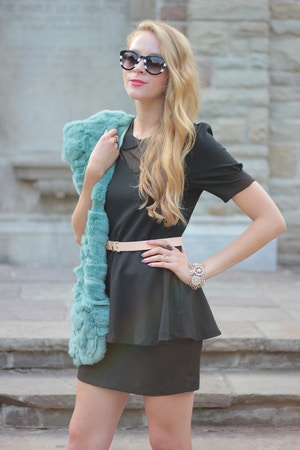 lbd mint faux fur