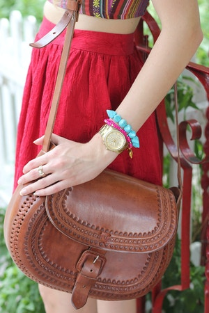 leather saddle bag mexican