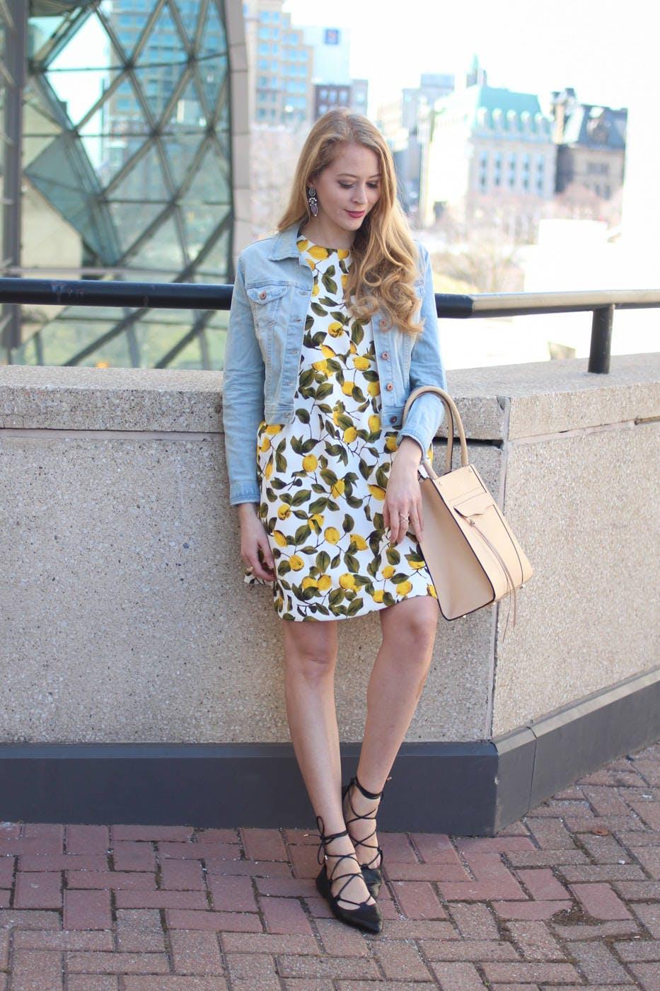 Lemon Print Dress + Trend Spin Linkup