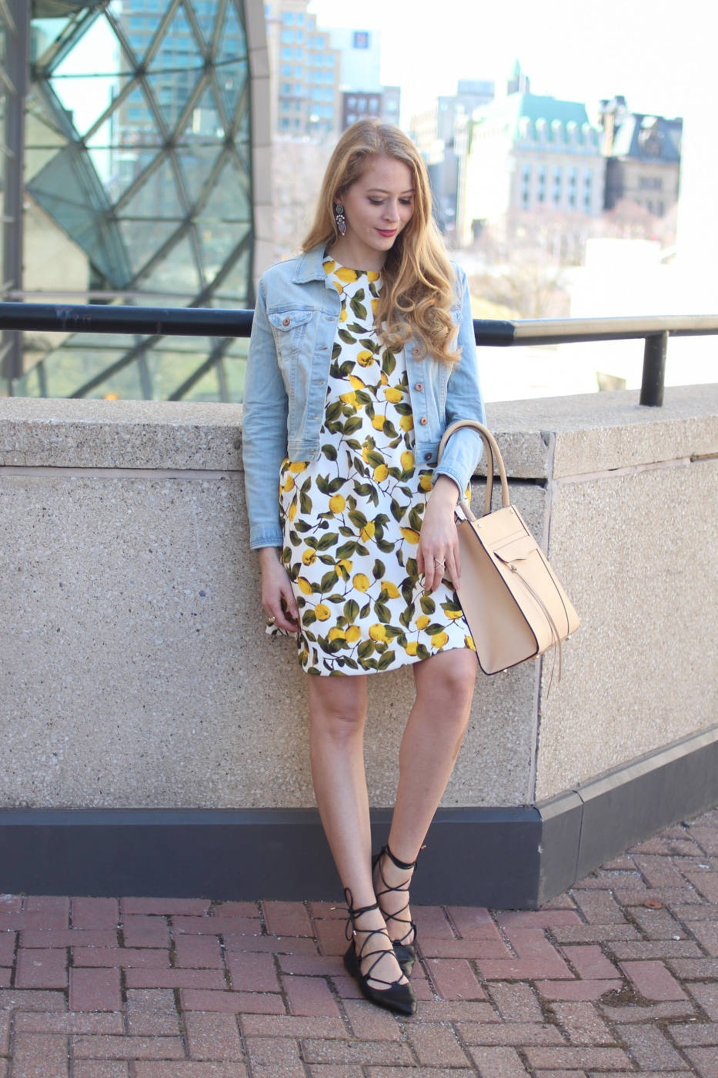 Lemon Print Dress + Trend Spin Linkup