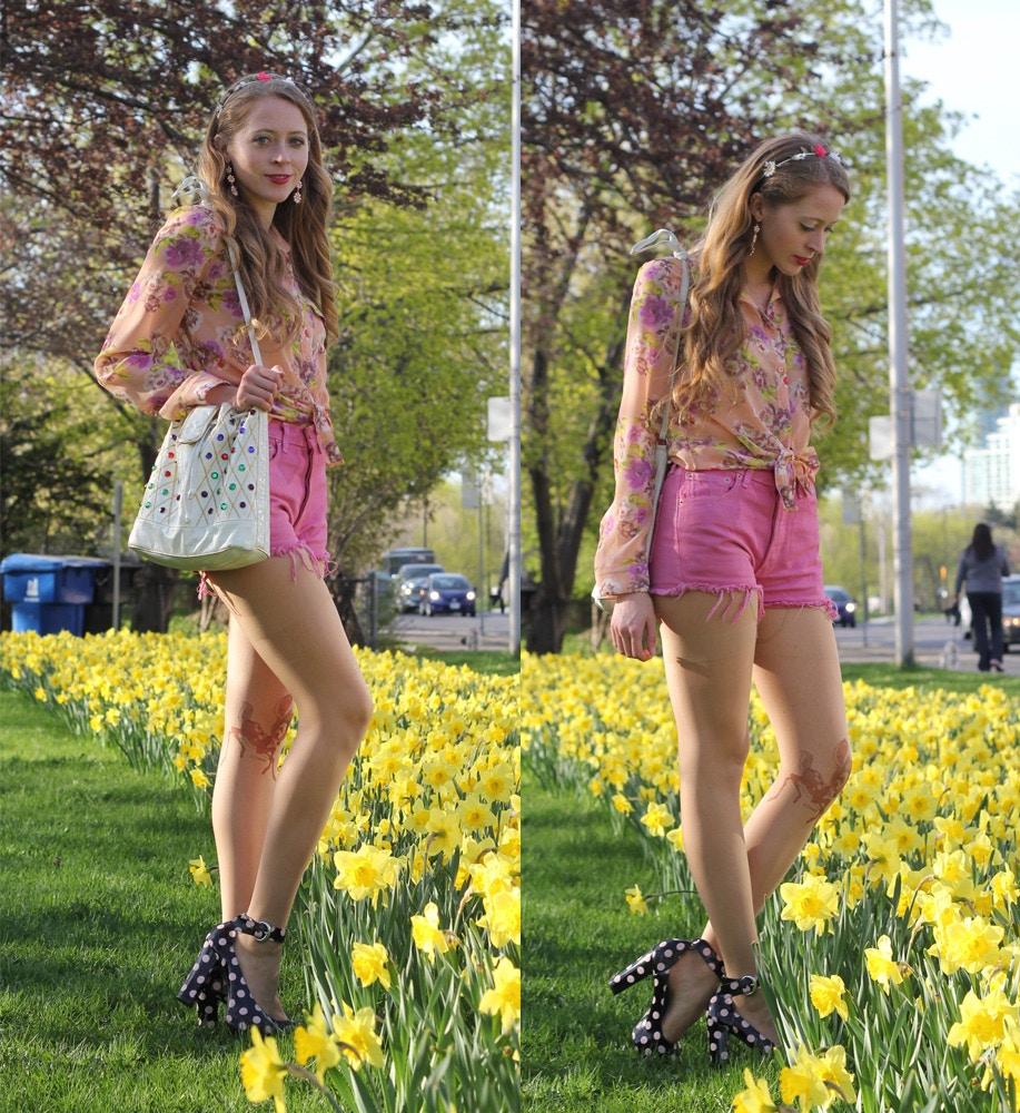 levis cut offs floral shirt target