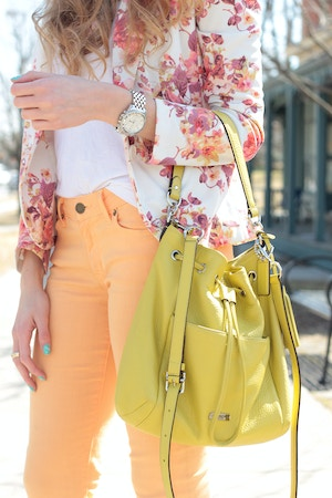 lime bucket bag