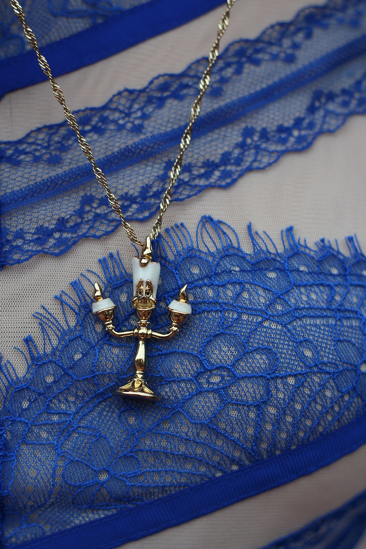 lumiere disney couture necklace