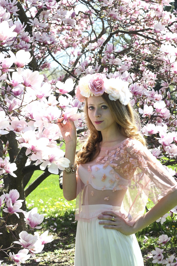 magnolia flower crown 2