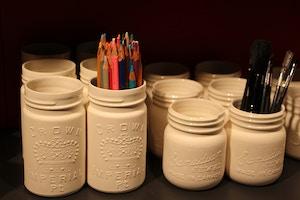 mason jar pottery