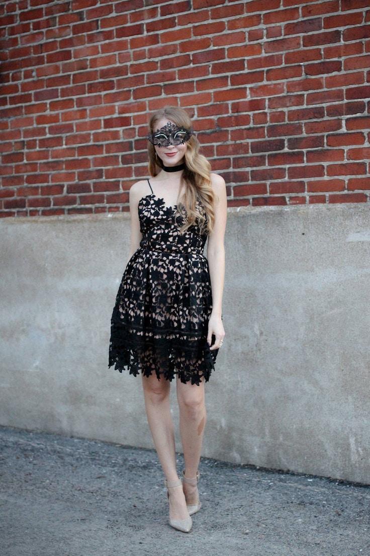 masquerade ball outfit idea