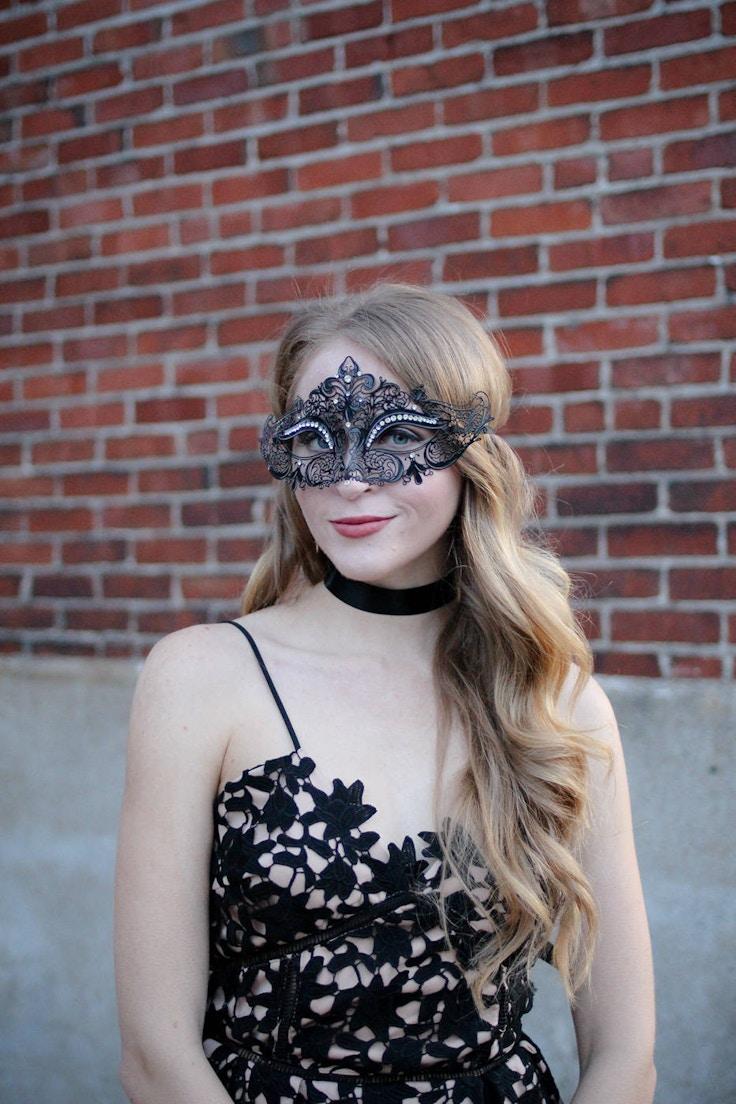 black metal filigree mask venice
