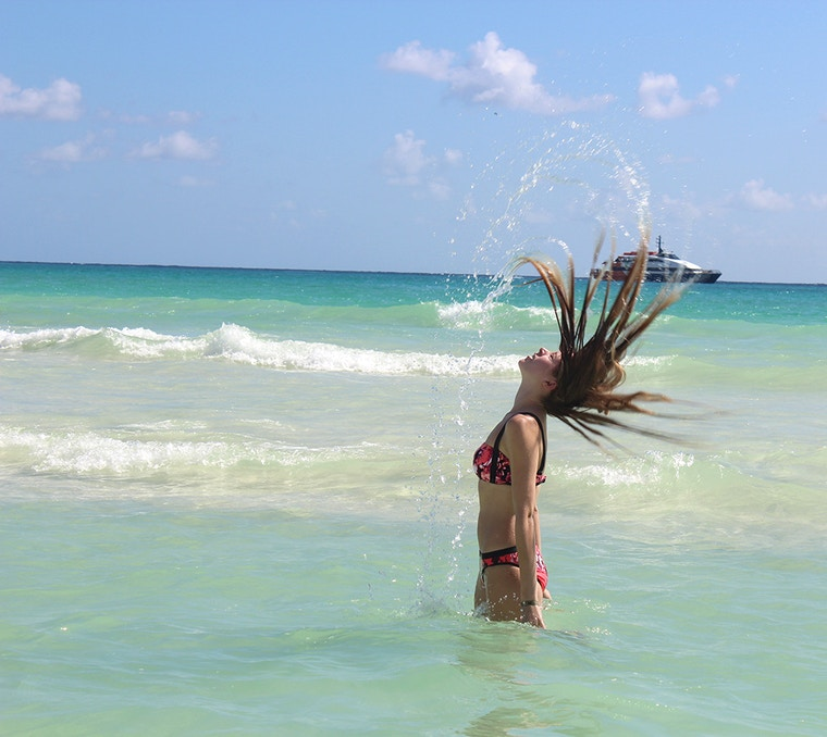 mermaid ocean hair flip picture