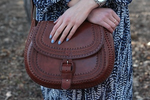 mexican leather satchel
