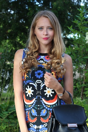 mexican print dress
