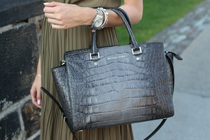 michael kors selma bag grey python