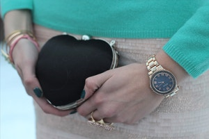 mini heart clutch