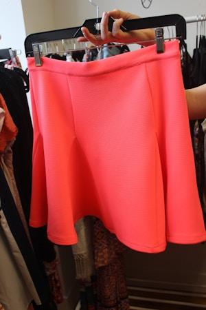 minkpink neoprene neon skirt