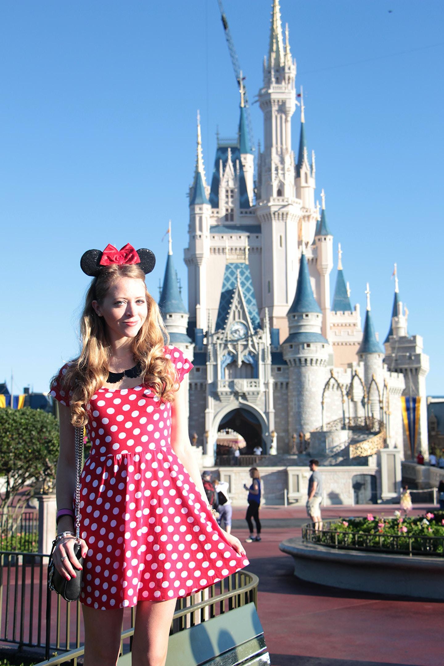 Minnie Mouse visits Magic Kingdom