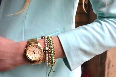 mint blazer detail