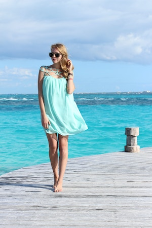mint cage dress chicwish