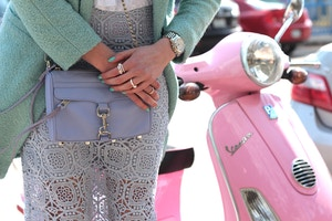 mint coat pink vespa periwinkle mini mac