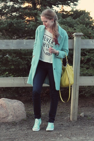 mint oversized wool coat