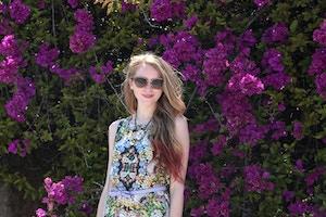miu miu glitter sunglasses floral romper