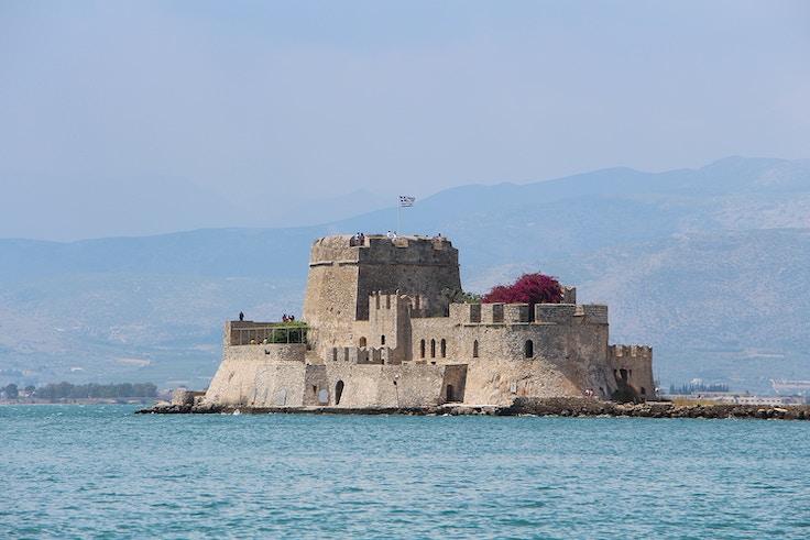 nafplio greece bourtzi tourist attraction