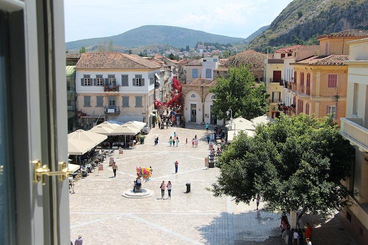 nafplio greece city square