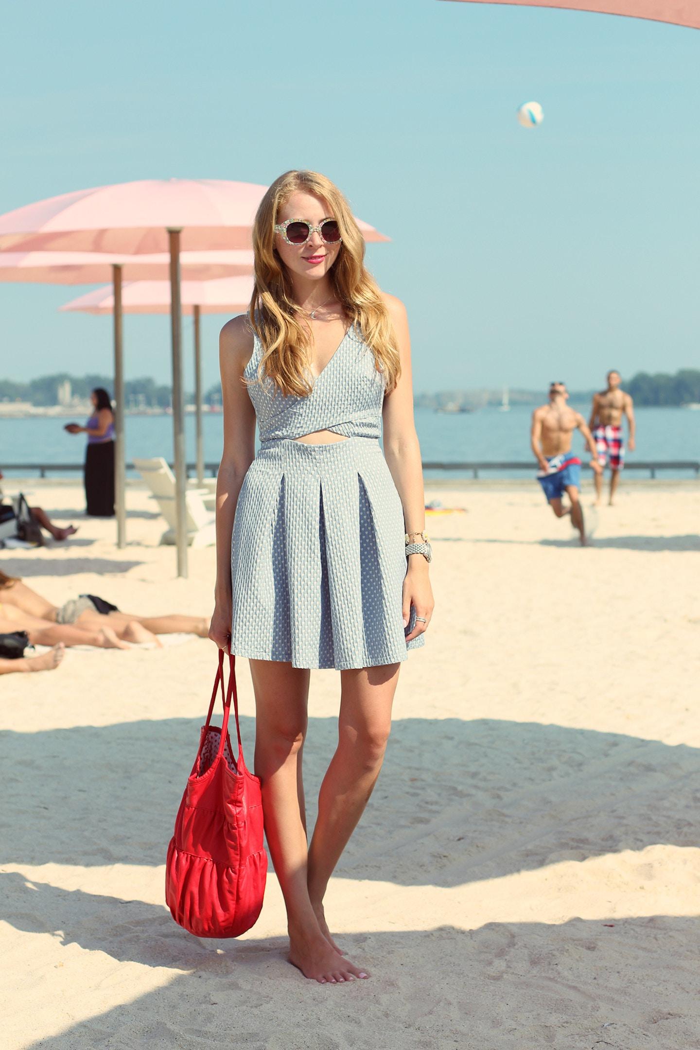 sugar beach zara seersucker heart print dress