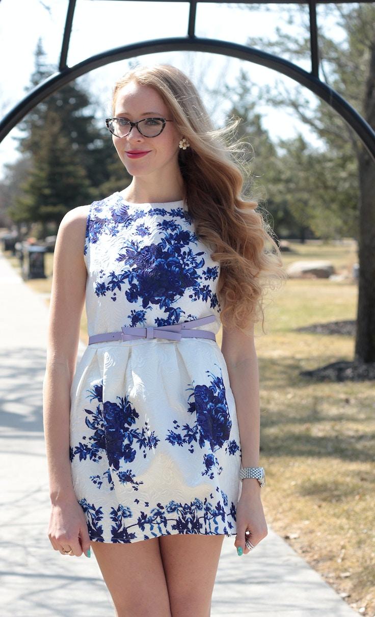 natalie ast style ambassador blue and white dress