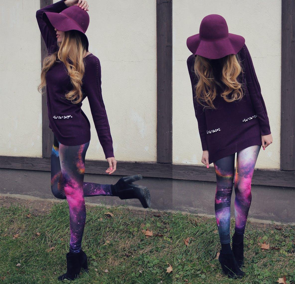 Galaxy Print Leggings