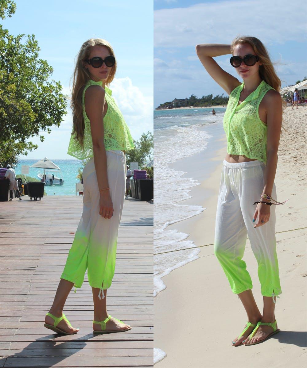 Feliz Cinco de Mayo y DIY Neon Ombre Pants