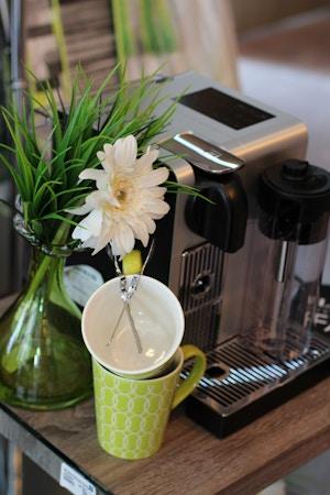 nespresso machine linen chest