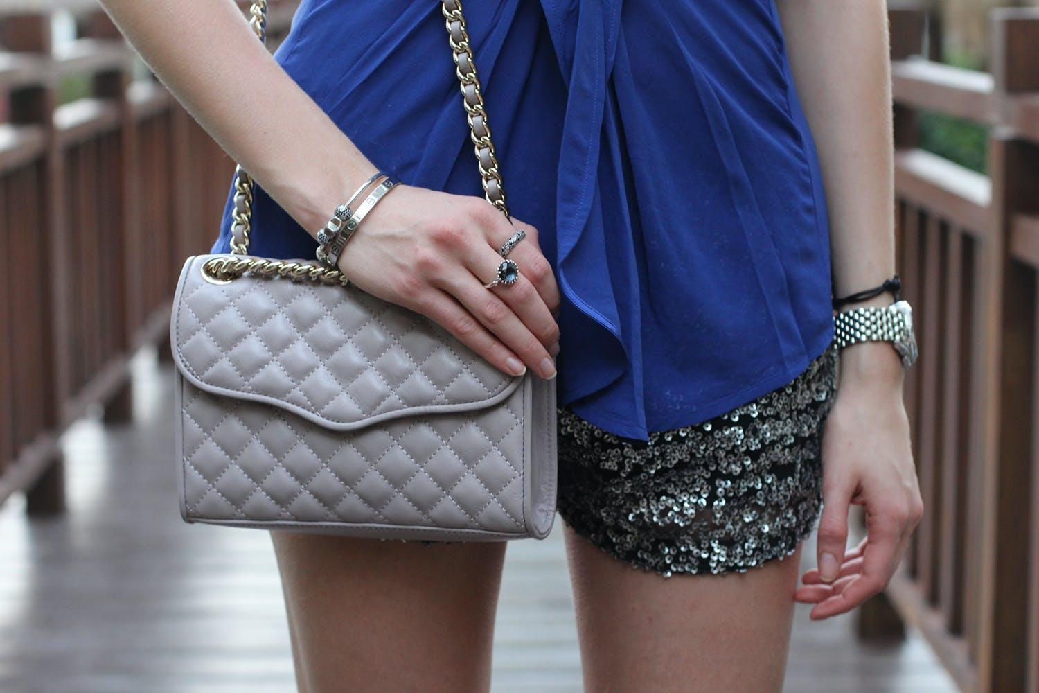 New Year's Eve Outfit Idea: sequin shorts