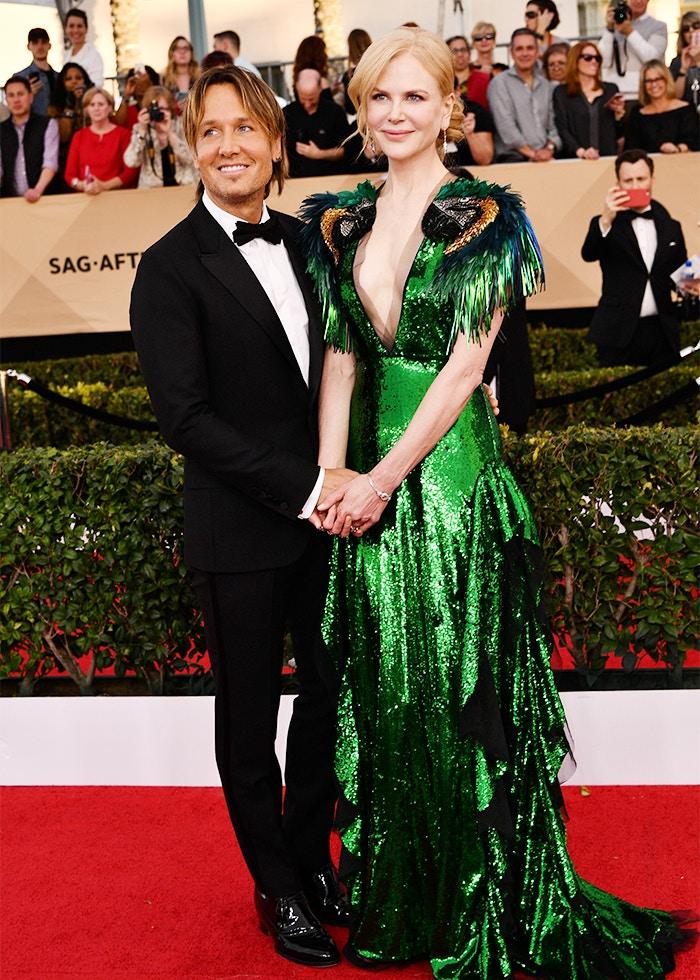 Nicole Kidman parrot dress SAG awards