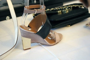nine west spring 2014 architectural sandal
