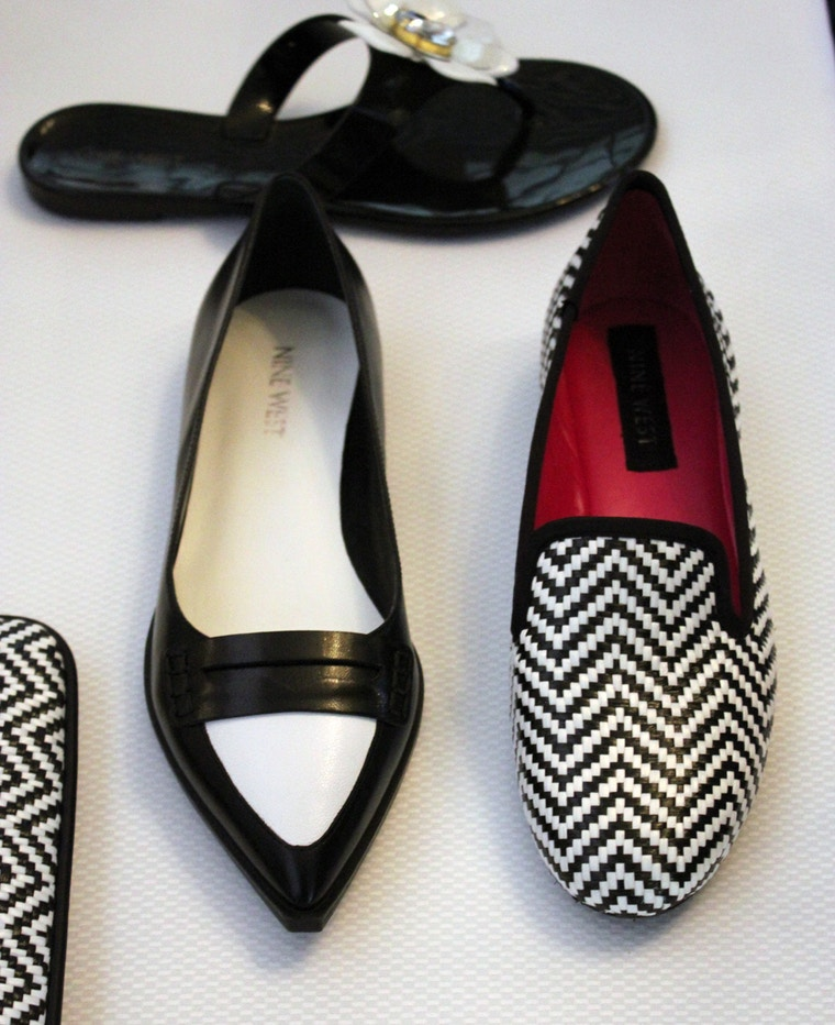 nine west spring 2014 black and white shoes