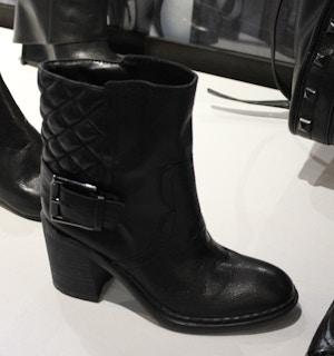 nine west black quilted bootie