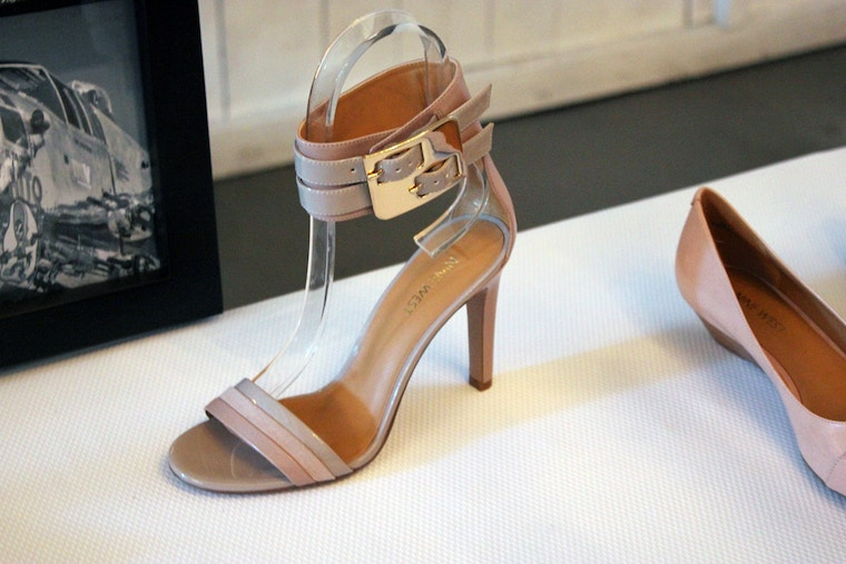 nine west spring 2014 pink ankle strap sandal