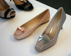 nine west spring 2014 pink loafers