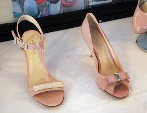 nine west spring 2014 pink sandals