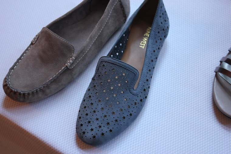 nine west spring 2014 star suede loafers