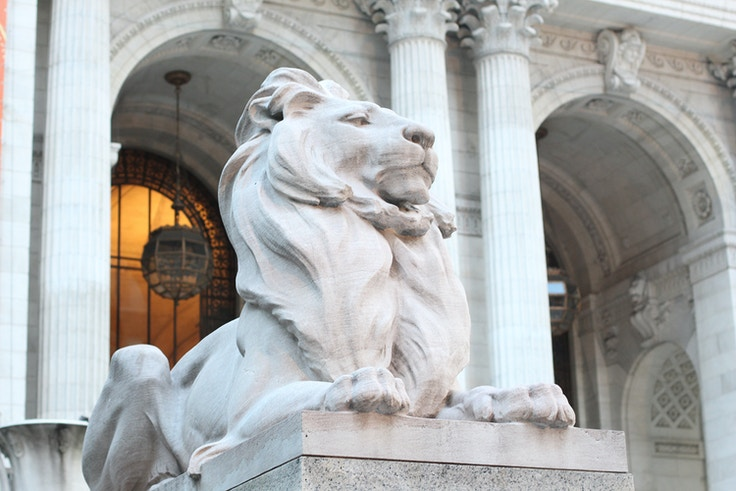 nyc library lion