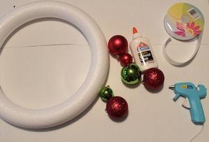 ornament wreath materials