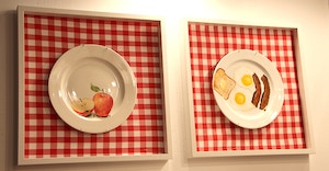 painted plates food