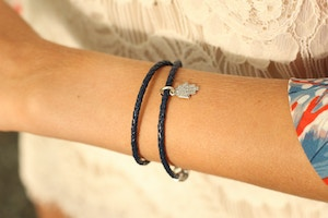 pandora leather bracelet khamsa